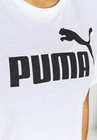 Puma - CROPPED LOGO TEE - T-shirt con stampa - white - 4
