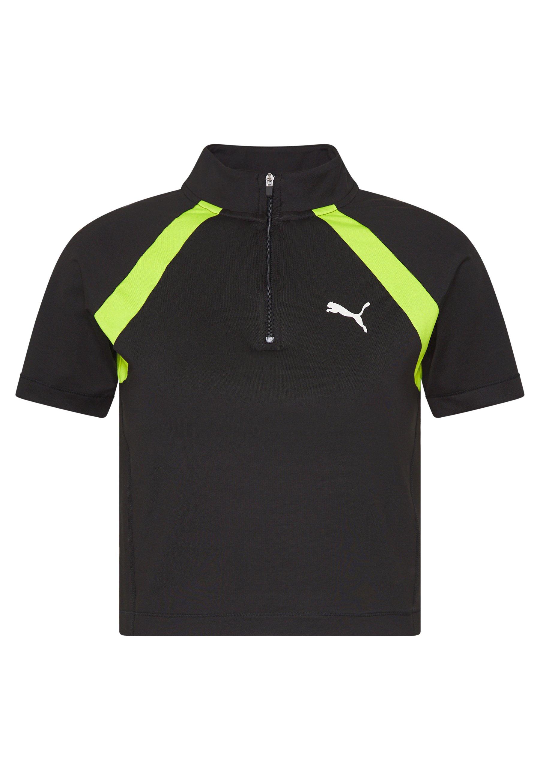Puma Studio Clash Active Cropped Tee - T-shirt Med Print Black