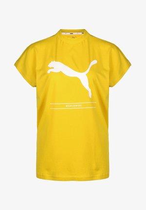 NU TILITY - Print T-shirt - yellow