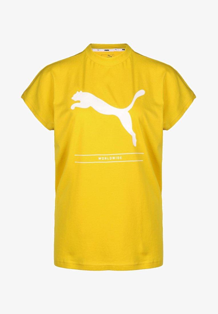 Puma - NU TILITY - T-shirt z nadrukiem - yellow