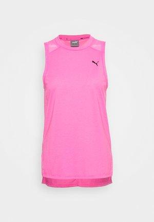 TRAIN PANEL TANK - Sports shirt - luminous pink