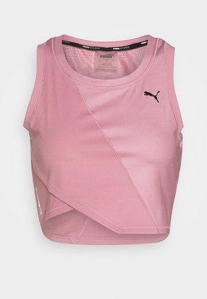 STUDIO CROP TANK - T-shirt de sport - foxglove