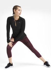 Puma - TEE KVINDE - Sports shirt - black heather - 1