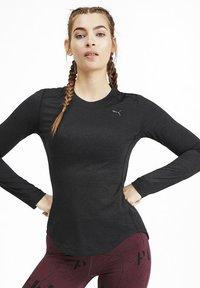 Puma - TEE KVINDE - Sports shirt - black heather - 0