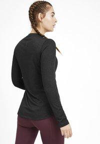 Puma - TEE KVINDE - Sports shirt - black heather - 2