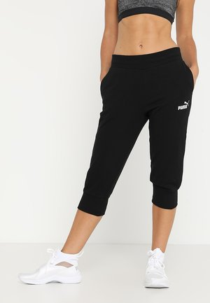 ESS CAPRI PANTS  - Träningsshorts 3/4-längd - cotton black
