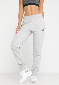 Puma - ESS PANTS - Tracksuit bottoms - light gray heather - 0