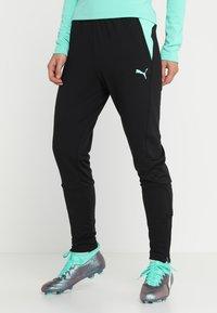 Puma - TRAINING PANT - Pantaloni sportivi - biscay green/black - 0