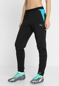 Puma - TRAINING PANT - Pantaloni sportivi - black/caribbean sea - 0