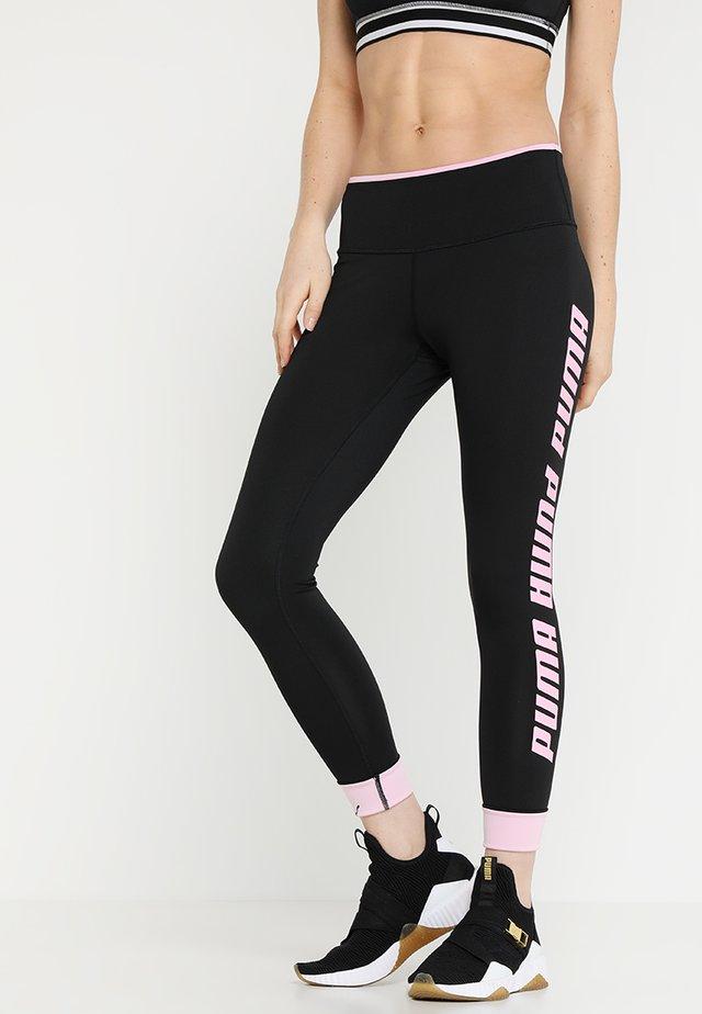 MODERN SPORTS FOLDUP LEGGING - Leggings - black/pale pink