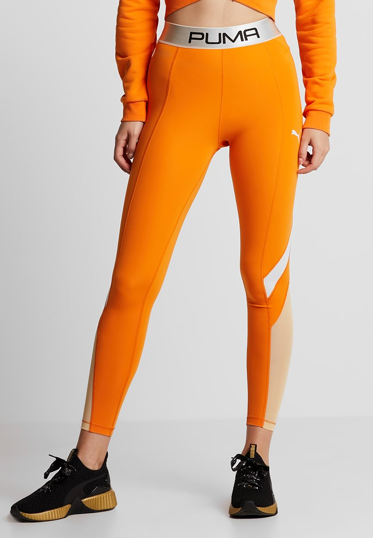 Puma - LEGGINGS - Legginsy - russet orange