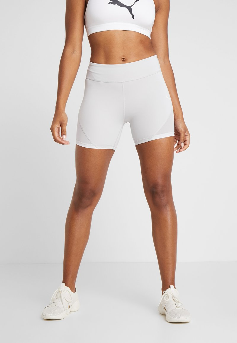 Puma - SG X SHORT - Tights - glacier grey/white