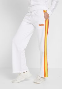 Puma - PERFORMANCE PANTS - Tracksuit bottoms - white - 0