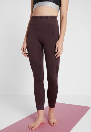 EVOKNIT SEAMLESS LEGGINGS - Legging - vineyard wine