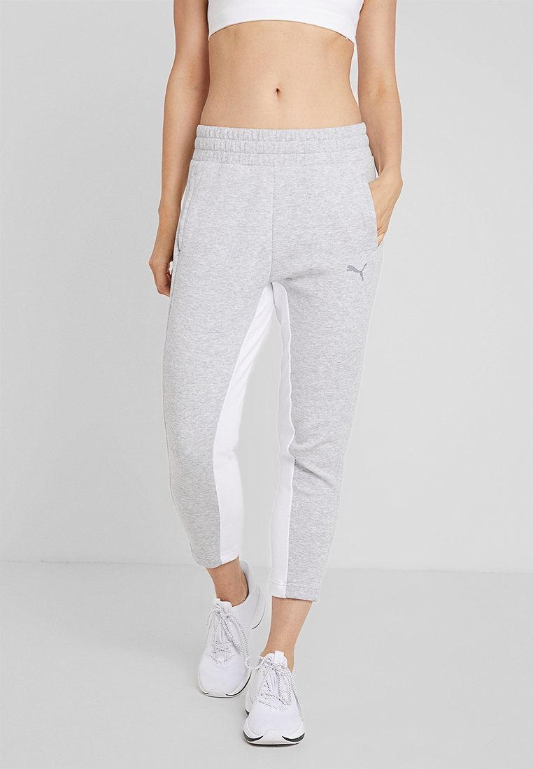 Puma - EVOSTRIPE PANTS - Trainingsbroek - light gray heather
