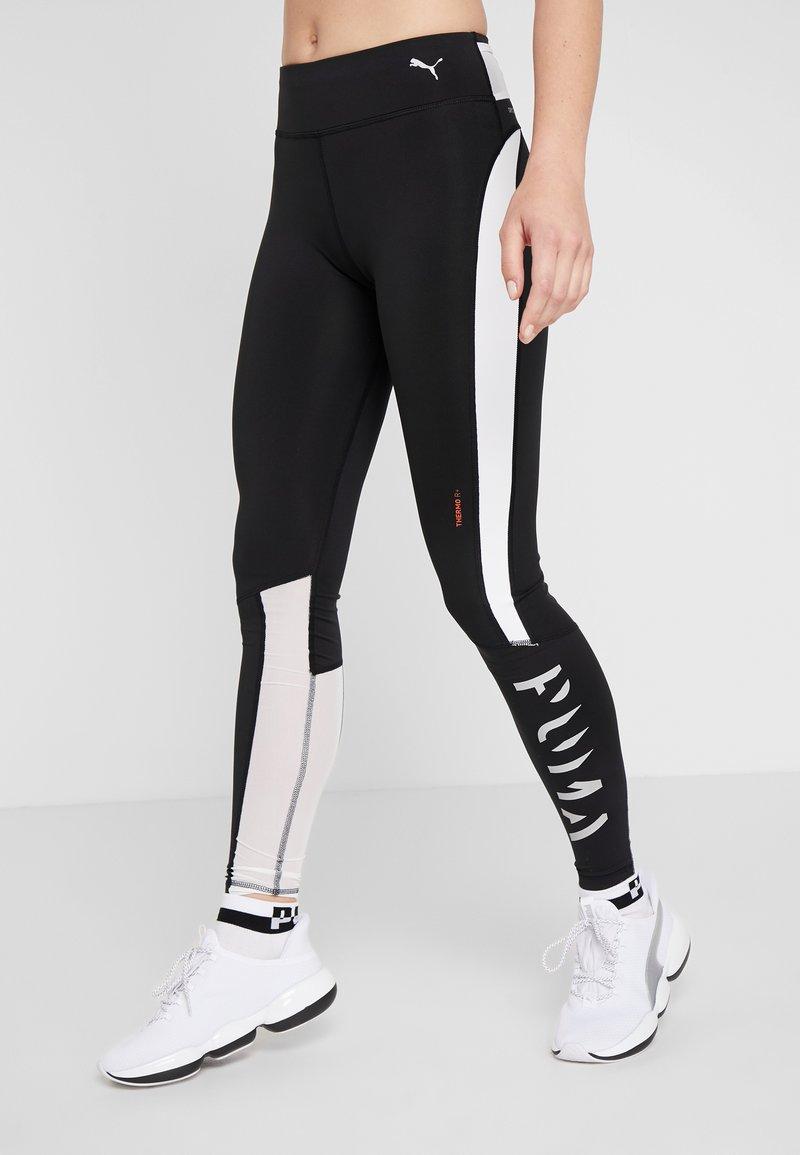 Puma - GET FAST THERMO R+ - Leggings - black/white