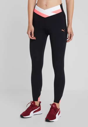 HIT FEEL IT - Tights - puma black/pink alert