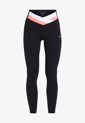 HIT FEEL IT - Leggings - puma black/pink alert