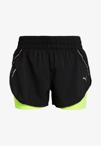 Puma - LAST LAP SHORT - Pantalón corto de deporte - black/yellow alert - 3
