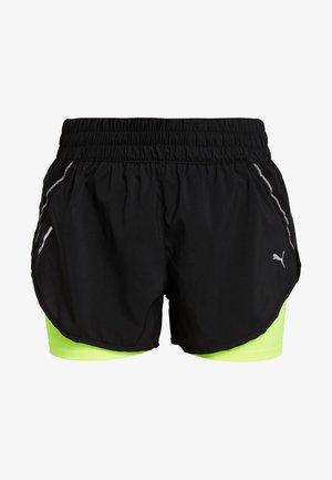LAST LAP SHORT - Sports shorts - black/yellow alert