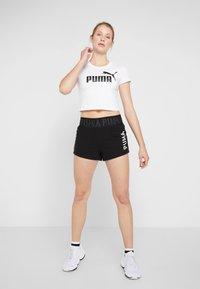 Puma - LOGO SHORT - Sports shorts - puma black/white - 1