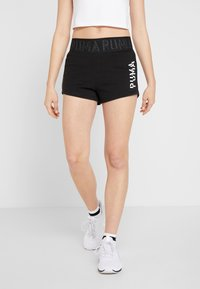 Puma - LOGO SHORT - Sports shorts - puma black/white - 0