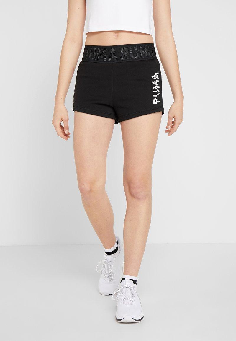 Puma - LOGO SHORT - Sports shorts - puma black/white