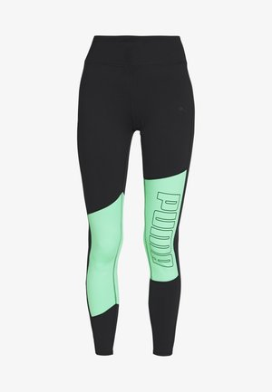 LOGO GRAPHIC  - Leggings - black/green glimmer