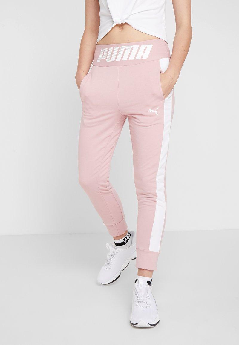 Puma - MODERN SPORT TRACK PANTS - Teplákové kalhoty - bridal rose