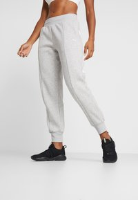 Puma - REBEL PANTS  - Träningsbyxor - light gray heather - 0
