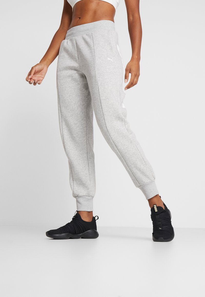 Puma - REBEL PANTS  - Träningsbyxor - light gray heather