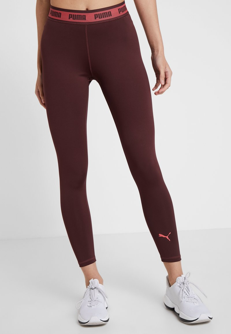 Puma - SOFT SPORTS LEGGINGS - Collants - vineyard wine