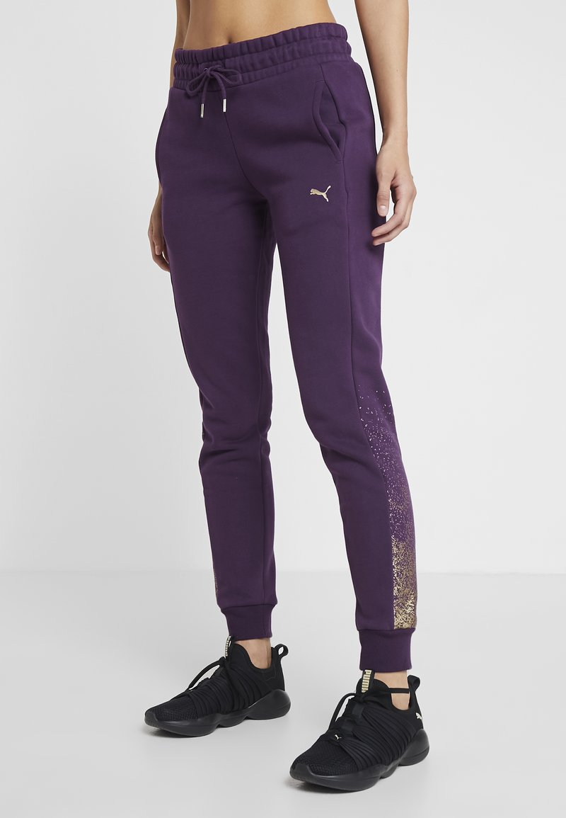 Puma - HOLIDAY PACK PANTS  - Träningsbyxor - plum purple