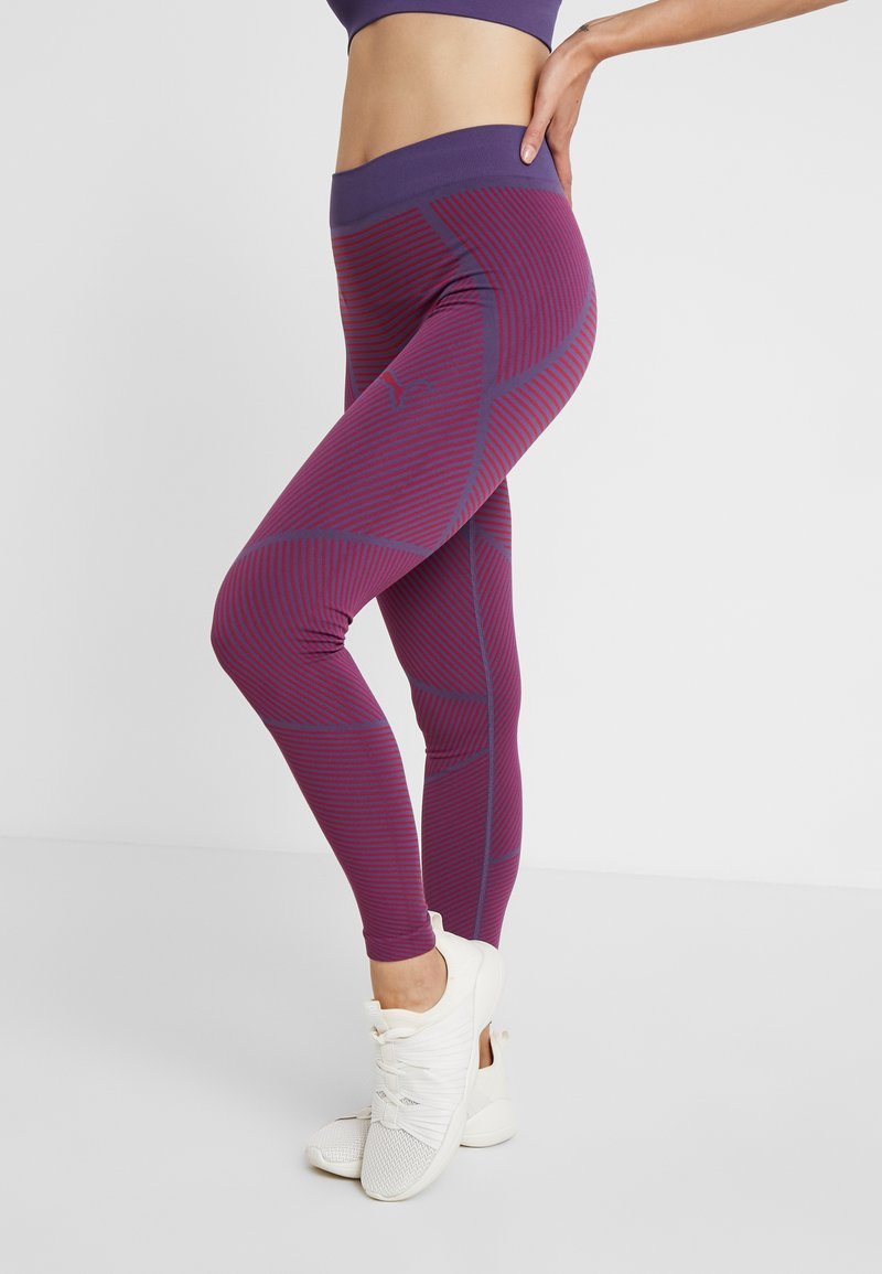 Puma - SEAMLESS LEGGINGS - Tights - imperial palace/persian red