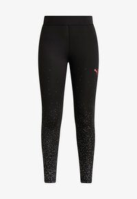 Puma - METALLIC LEGGINGS - Punčochy - black - 4