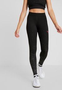 Puma - METALLIC LEGGINGS - Punčochy - black - 0