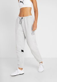 Puma - AL PANT - Pantalones deportivos - grey heather - 0
