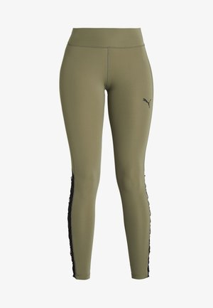 PAMELA  REIF X PUMA HIGH WAIST LACE UP LEGGINGS - Punčochy - four leaf clover