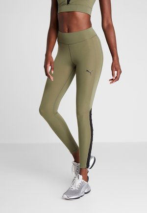 PAMELA  REIF X PUMA HIGH WAIST LACE UP LEGGINGS - Collant - four leaf clover