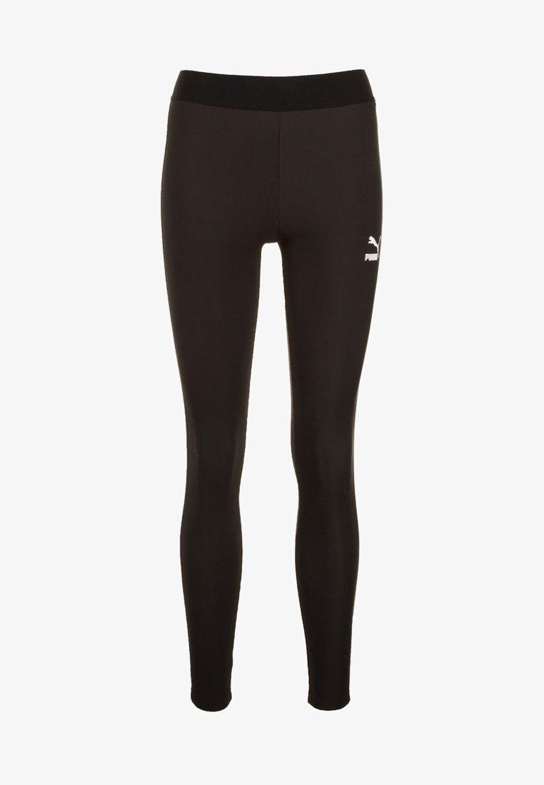 Puma - CLASSICS RIB LEGGINGS - Collant - black