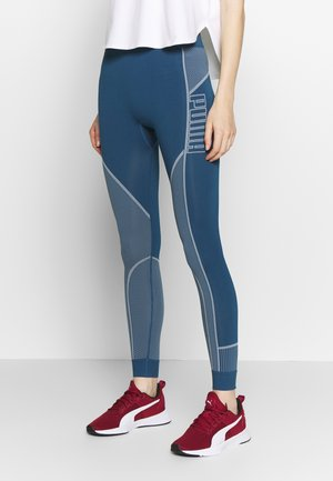 EVOSTRIPE EVOKNIT LEGGINGS - Trikoot - dark denim