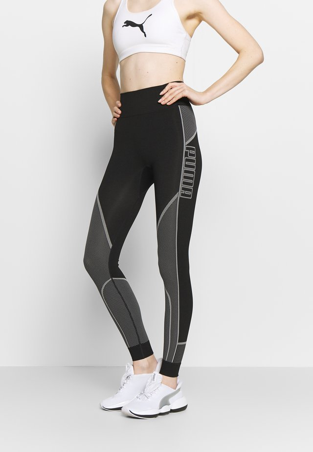 EVOSTRIPE EVOKNIT LEGGINGS - Leggings - black