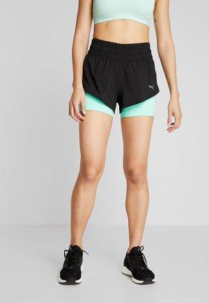 LAST LAP SHORT 2-IN-1  - Pantalón corto de deporte - black/green glimmer