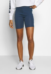 Puma - REBEL SHORT - Tights - dark denim - 0