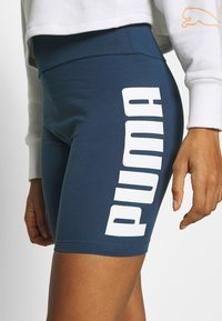 Puma - REBEL SHORT - Tights - dark denim