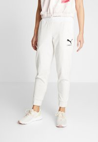 Puma - NU-TILITY PANTS - Joggebukse - puma white heather - 0