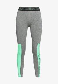 medium gray heather/green glimmer