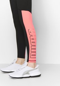 Puma - LOGO - Leggings - black/ignite pink - 3
