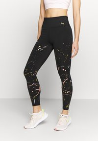 Puma - METAL SPLASH SPLATTER - Legginsy - black - 0