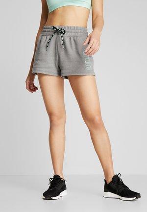 FEEL IT SHORT - kurze Sporthose - medium gray heather/black